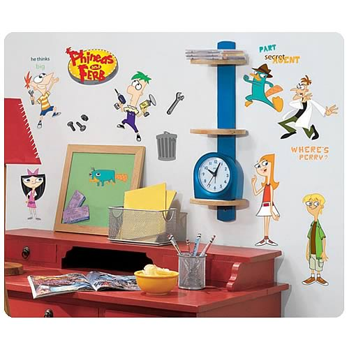 Phineas and Ferb Peel and Stick Wall Applique