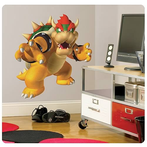 Super Mario Bros. Bowser Peel And Stick Giant Wall Decal
