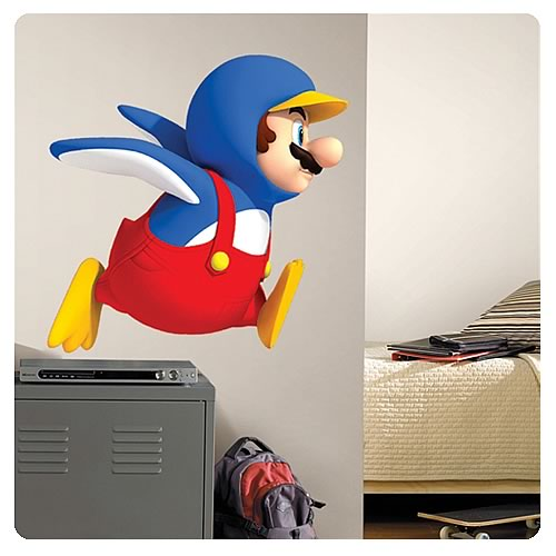 Super Mario Bros. Penguin Mario Giant Wall Decal