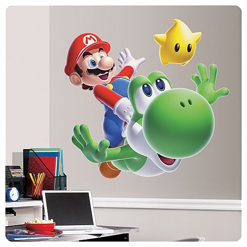 Super Mario Galaxy Mario Yoshi Giant Wall Decal