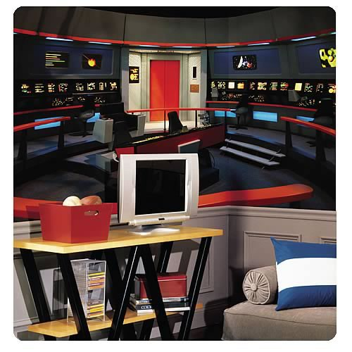 Star Trek Enterprise Bridge Chair Rail Wall Mural