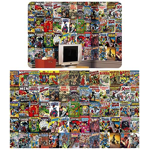 Good Marvel Comic Book Chair Rail Prepasted Wall Mural Part 26