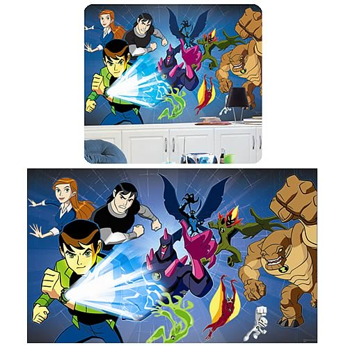 Ben 10 Chair Rail Prepasted Mural
