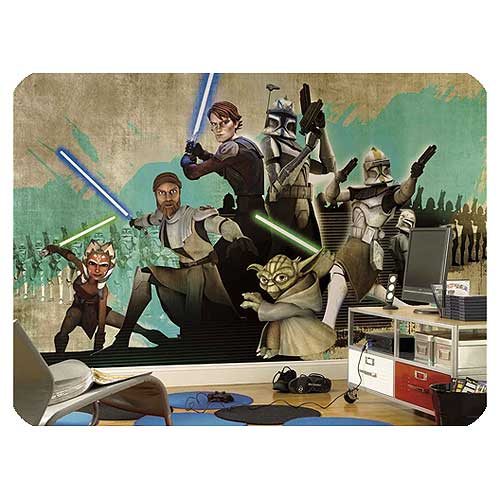 Star Wars Clone Wars Full Size Wall Mural