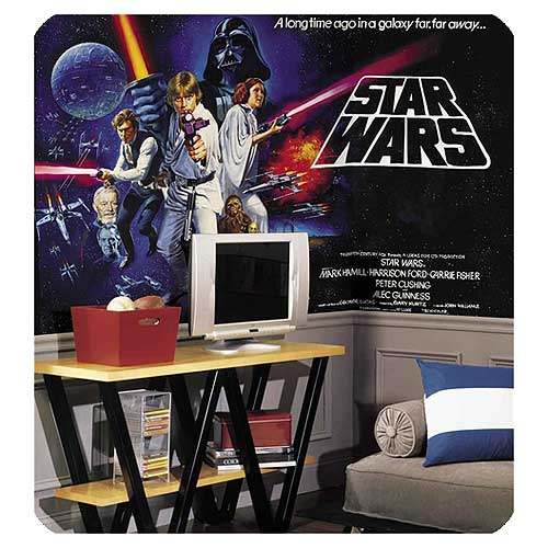 Star Wars Classic Chair Rail Wall Mural