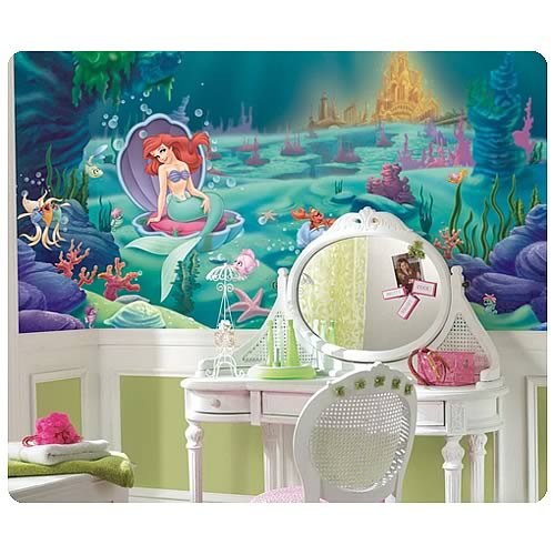 The_Little_Mermaid_Chair_Rail_Prepasted_Wall_Mural