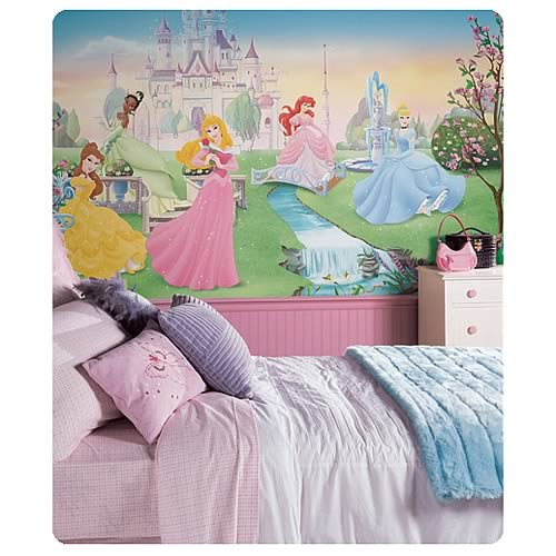 Disney_Dancing_Princesses_Chair_Rail_Prepasted_Wall_Mural