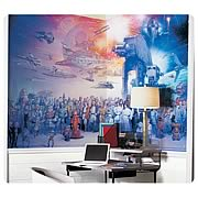 Star Wars Celebration Chair Rail Prepasted Wall Mural