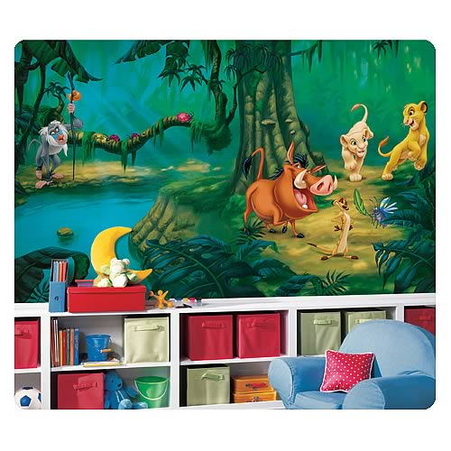 Lion King Chair Rail Giant Prepasted Wall Mural
