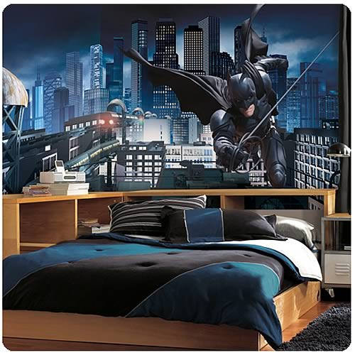 Batman dark knight rises giant prepasted wall mural for Batman wall mural decal