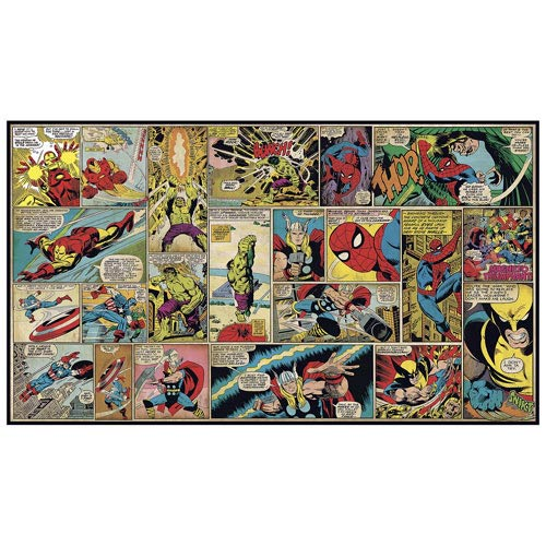 Marvel Classics Comic Panel Full Wall Mural