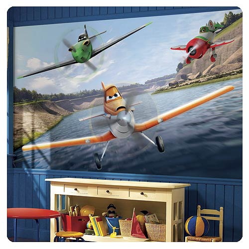 Disney planes full wall mural roommates planes wall for Disney planes wall mural