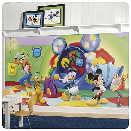 Mickey Mouse and Friends Clubhouse Capers Full Wall Mural