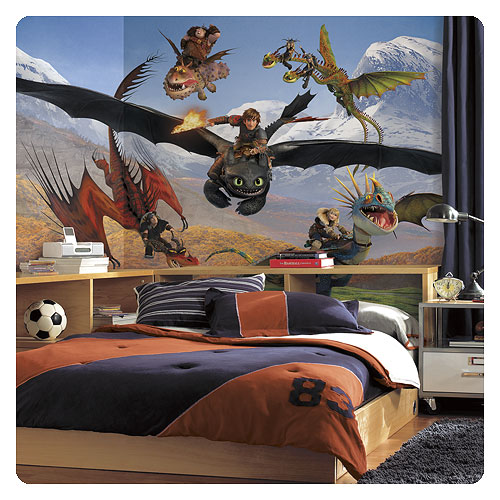 How to Train Your Dragon Chair Rail Giant Mural