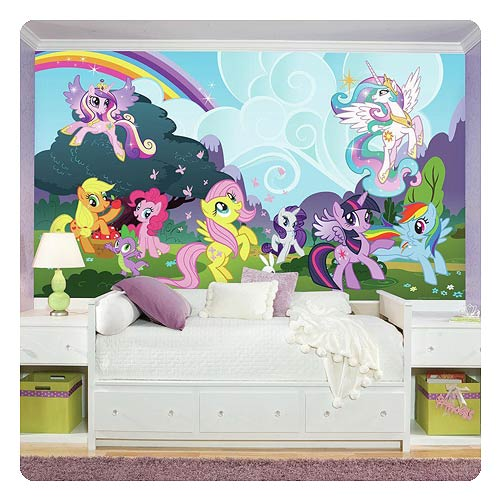 My_Little_Pony_Friendship_is_Magic_Ponyville_Chair_Rail_Giant_UltraStrippable_Prepasted_Mural