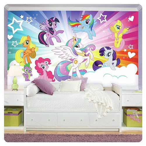 MLP Clouds Giant Ultra-Strippable Prepasted Mural