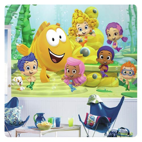 Bubble_Guppies_Chair_Rail_Giant_UltraStrippable_Prepasted_Mural