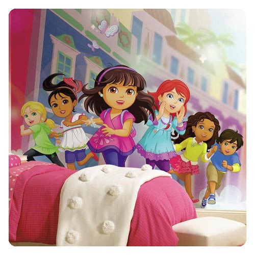 Dora and Friends Giant Ultra-Strippable Prepasted Mural
