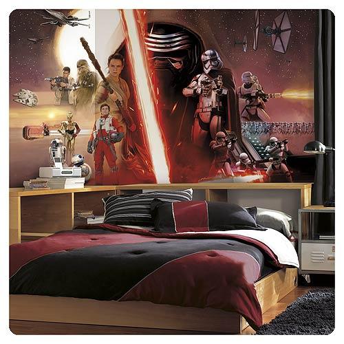 Star Wars Wall Murals star wars: the force awakens wallpaper mural - roommates - star