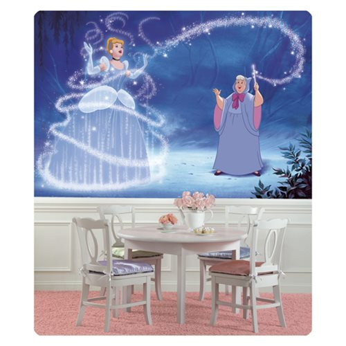 Cinderella Magic XL Chair Rail Prepasted Mural
