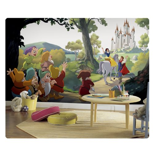Snow White and the Seven Dwarfs Happily Ever After XL Chair Rail Prepasted Mural