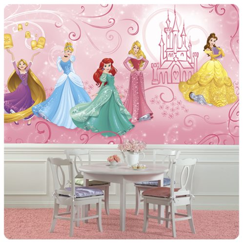 Disney_Princesses_Enchanted_XL_Chair_Rail_Prepasted_Mural