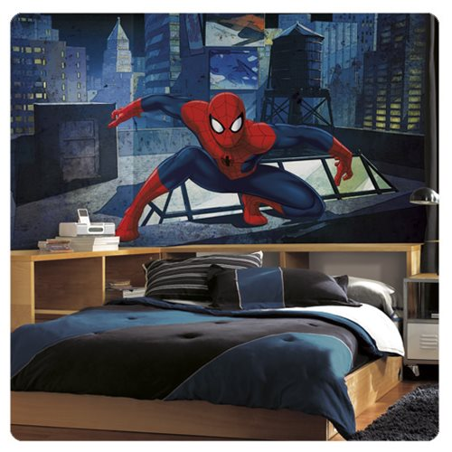 Ultimate_SpiderMan_CityScape_XL_Chair_Rail_Prepasted_Mural