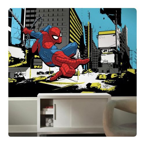 SpiderMan_Classic_XL_Chair_Rail_Prepasted_Mural