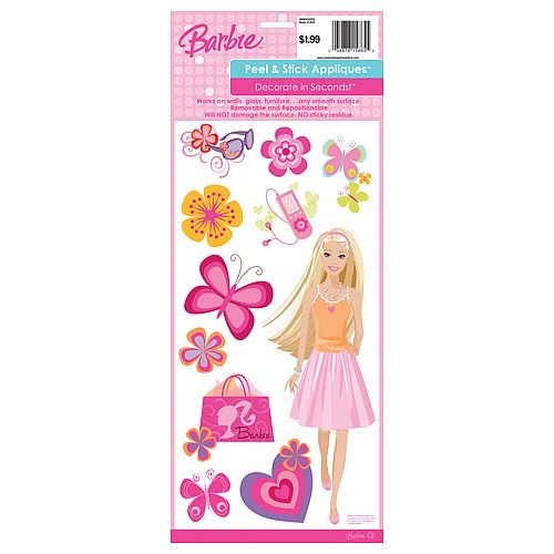 Barbie Deco Peel and Stick Single Sheet