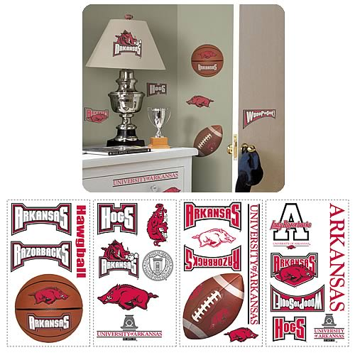 University Of Arkansas Peel and Stick Wall Applique