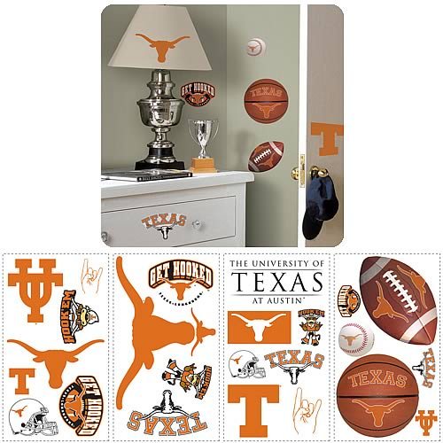 University Of Texas Peel and Stick Wall Applique