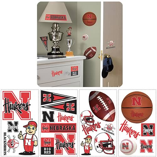 University Of Nebraska Peel and Stick Wall Applique