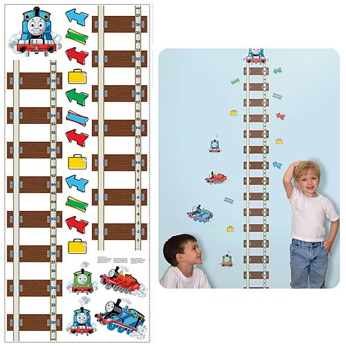 Thomas and Friends Peel and Stick Growth Chart Wall Applique
