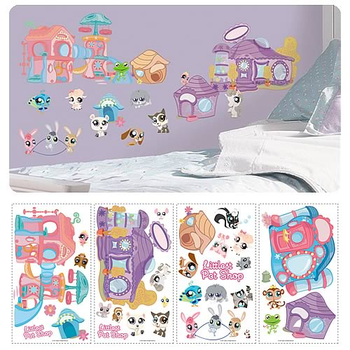 Littlest Pet Shop Peel and Stick Wall Applique