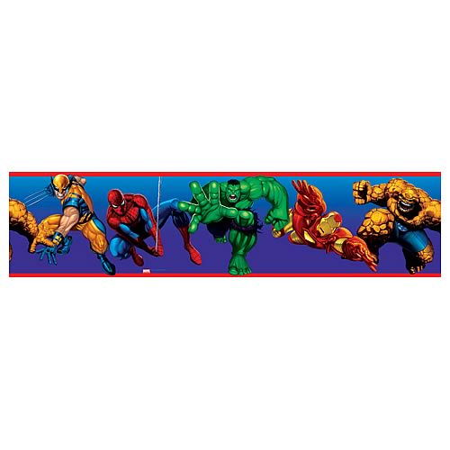 Marvel Heroes Peel and Stick Border Applique