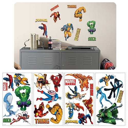 Marvel Heroes Peel and Stick Wall Applique