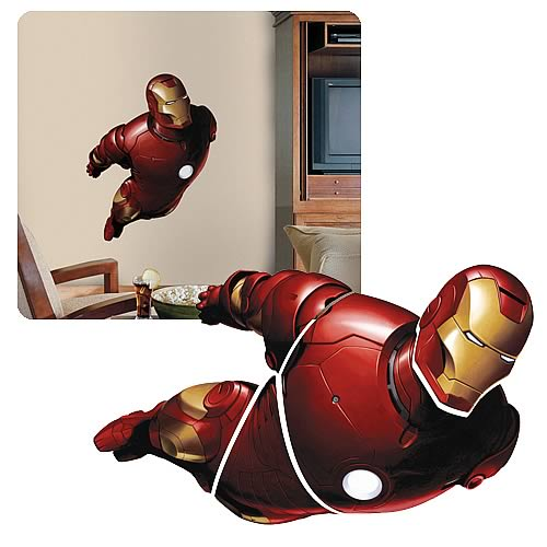 Iron Man Peel-and-Stick Giant Wall Appliqué