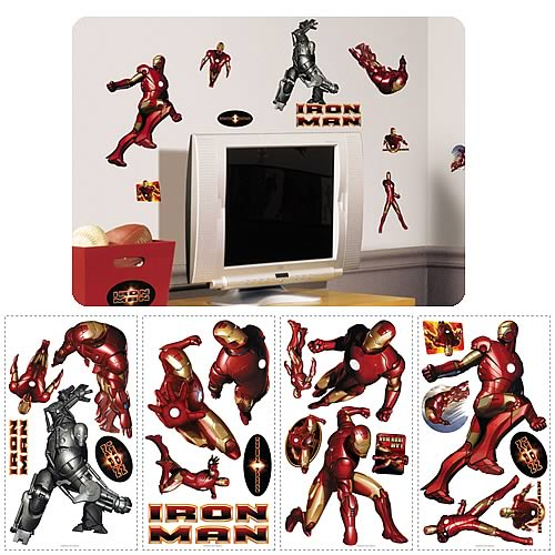 Iron Man Peel and Stick Wall Applique