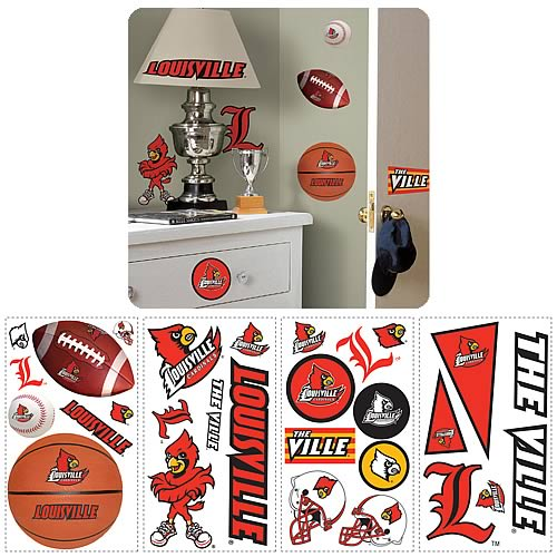 University Of Louisville Peel and Stick Wall Applique