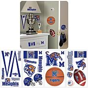 University Of Memphis Peel and Stick Wall Applique
