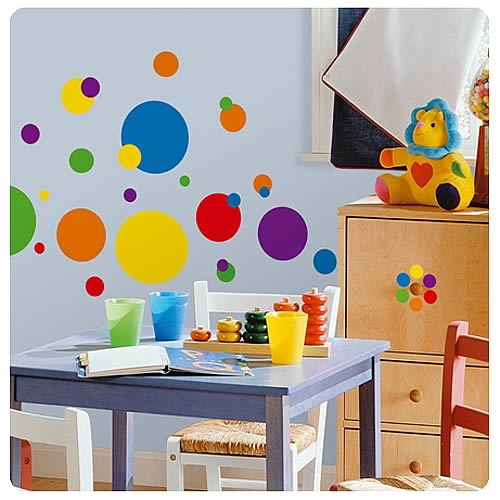 Just Dots Primary Peel and Stick Wall Appliques