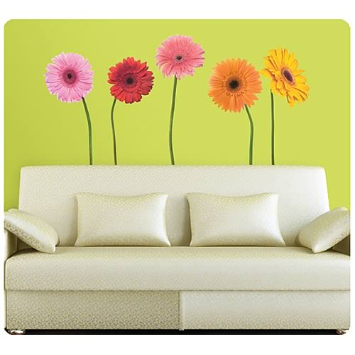 Gerber Daisies Peel and Stick Wall Appliques