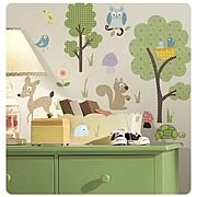 Woodland Animals Peel and Stick Wall Appliques