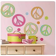 Peace Signs Peel and Stick Wall Appliques