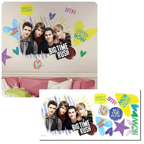 Big Time Rush Peel and Stick Giant Wall Decal