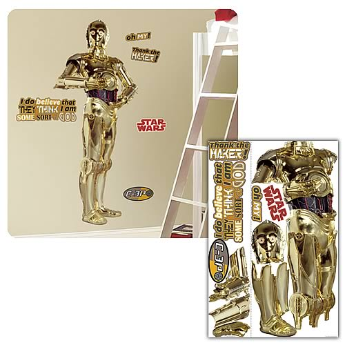 Star Wars Classic C-3PO Peel and Stick Giant Wall Applique