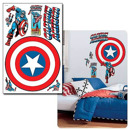 Captain America Vintage Shield Peel & Stick Giant Wall Decal