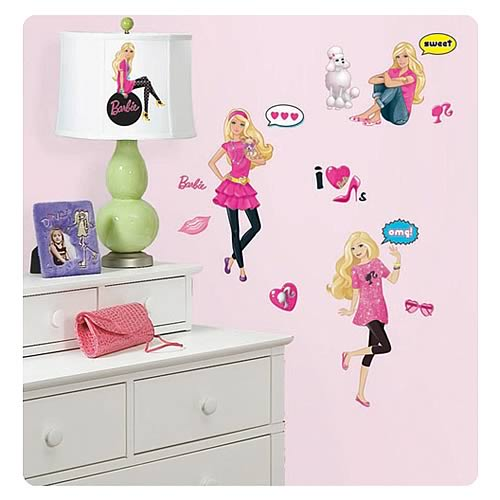 Barbie Peel and Stick Wall Decals