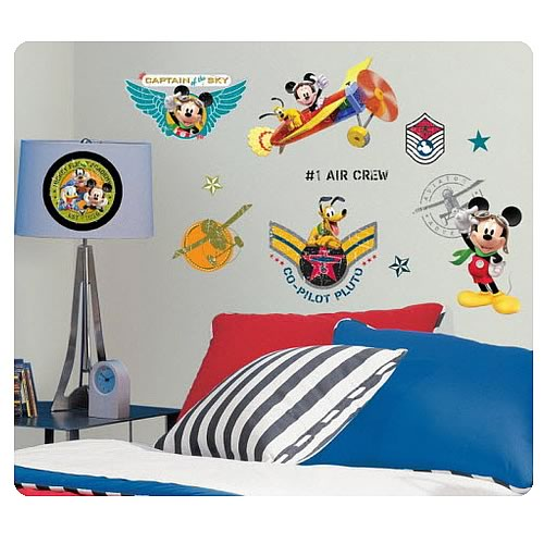 mickey mouse friends clubhouse pilot wall decals. Black Bedroom Furniture Sets. Home Design Ideas
