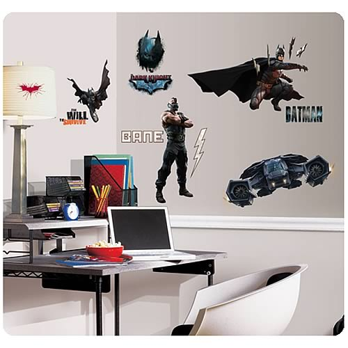 Batman dark knight rises peel and stick wall decals for Dark knight mural